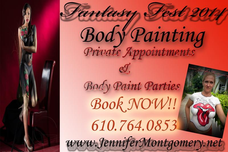 Fantasy Fest Body Painting Key West Florida Body Painter Jennifer Montgomery