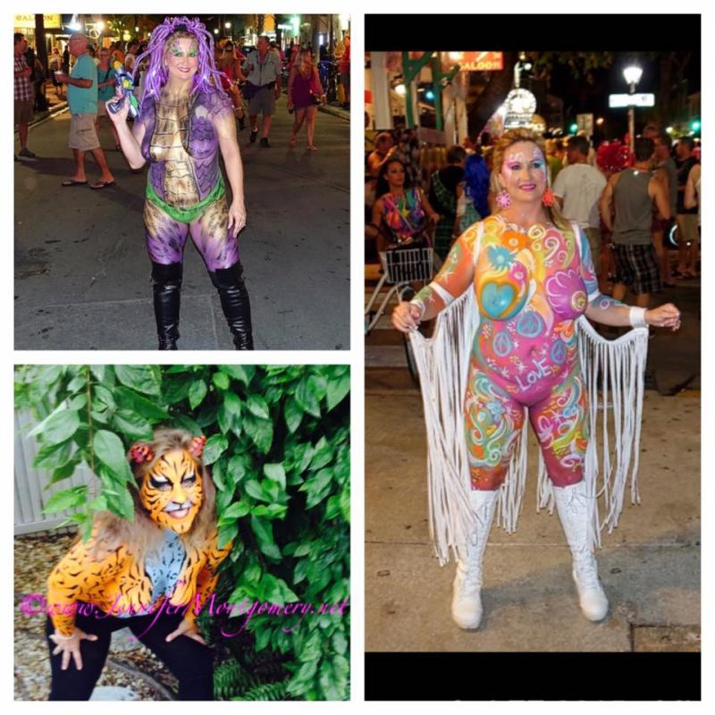 Body Painting Fantasy Fest  Key West, FL Body Painter Jennifer Montgomery