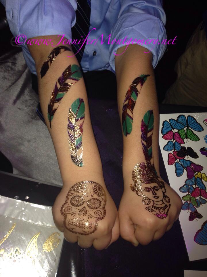 Flash Tattoos Kids  Birthday Parties  Philadelphia PA Kids Parties Bat Mitzvahs