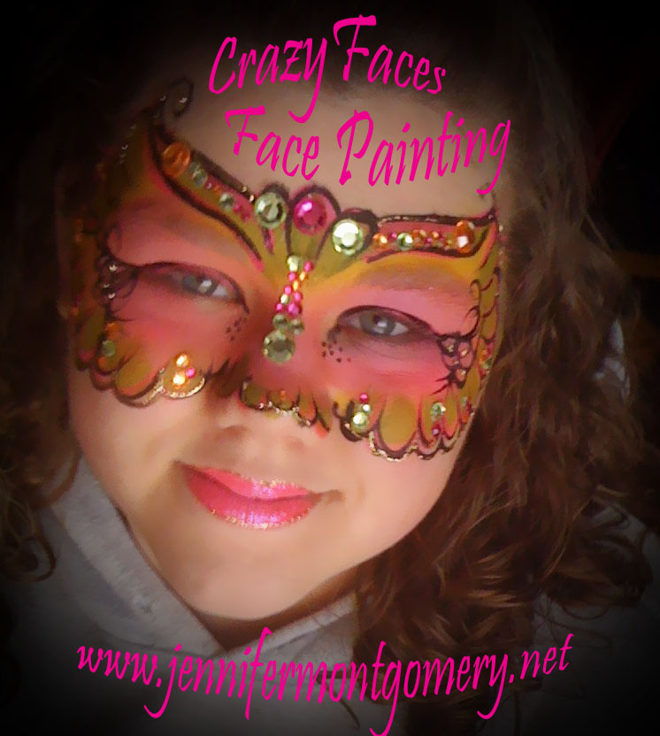 Mardi Gras Mask Face Painting CrazyFaces Face Painting Philadelphia PA