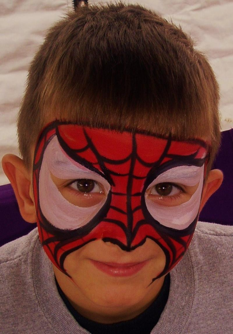 Spider Web Face Painting by CrazyFaces Face Painting Philadelphia PA area