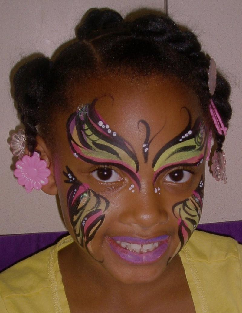 Butterfly Face Painting by CrazyFaces Face Painting  Philadelphia PA area