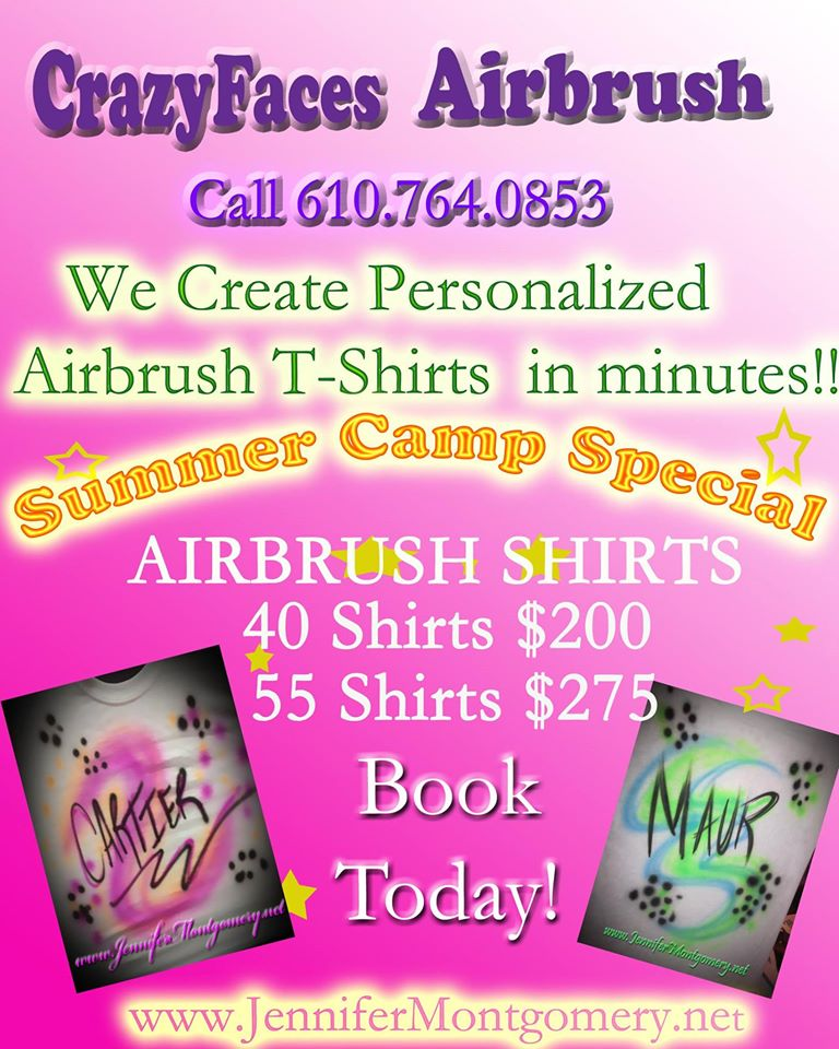 Airbrush Philadelphia PA Summer Camp CrazyFaces Face Painting