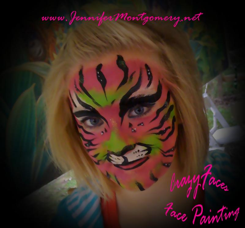 Face Paint Tiger Philadelphia PA CrazyFaces Face Painting