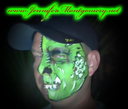 Half Face Painting Key West and Philadelphia Parties and Events